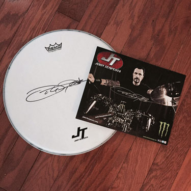 JT Autographed Drum Head