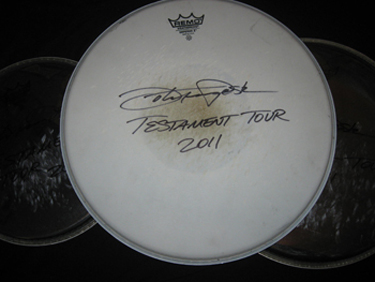Motor Sister Autographed Drum Head
